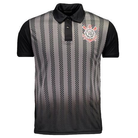 Camisa Corinthians Polo Dark Side Masculino - Preto - Spr - Camisa ... 6ef2da45829