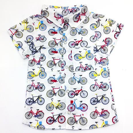 Imagem de Camisa de bolso para bebê menino com estampa de bicicleta