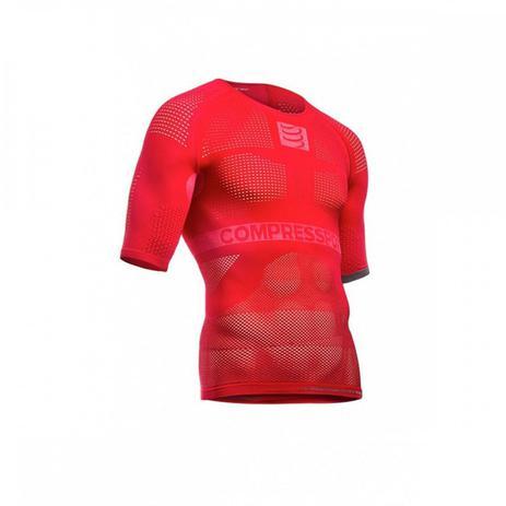 ef47f1d5c Camisa de Compressão On Off Manga Curta Vermelho - XL - Compressport ...