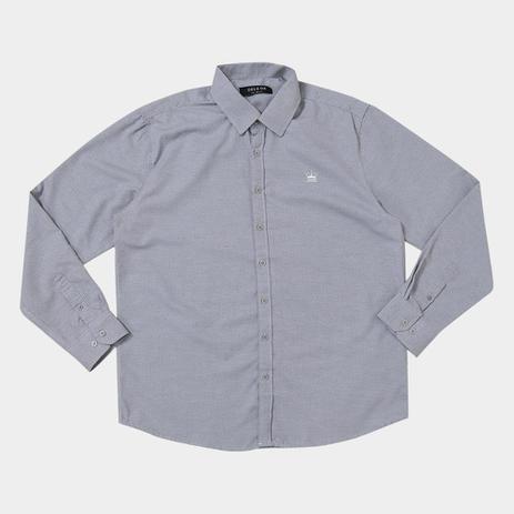 b45934da1d896e Camisa Delkor Manga Longa Plus Size Masculina