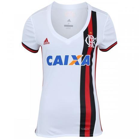 2c03bd09dc Camisa do Flamengo II 2017 adidas com Patrocínio - Feminina ...