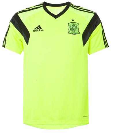 1ef238ad5 Camisa Espanha adidas Copa 2014 Amarela Treino - Vestuário Esportivo ...