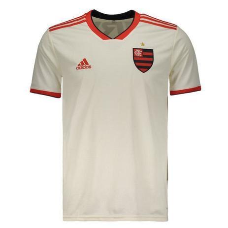 01fee8279e787 Camisa Flamengo Adidas II Branca 2018 - Futebol - Magazine Luiza