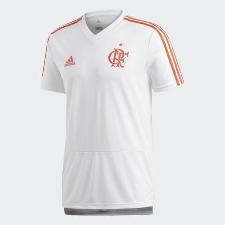 5a3ae97f20157 Camisa Flamengo Adidas Treino 2018 Branca - Camisa de Time ...