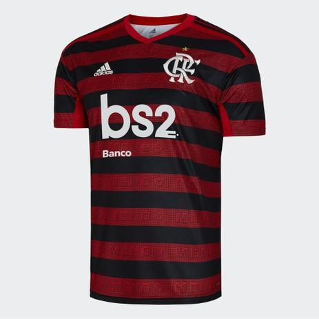 Imagem de Camisa Flamengo I 19/20 s/nº Torcedor c/ Patrocínio Adidas Masculina