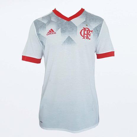 Camisa Flamengo Pré Jogo Adidas - Branco e Vermelho - Vestuário ... 007c0c9eeace2