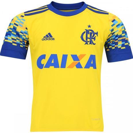 fd4cc5ded0 Camisa Infantil Flamengo Adidas III 2017 Amarela - Vestuário ...