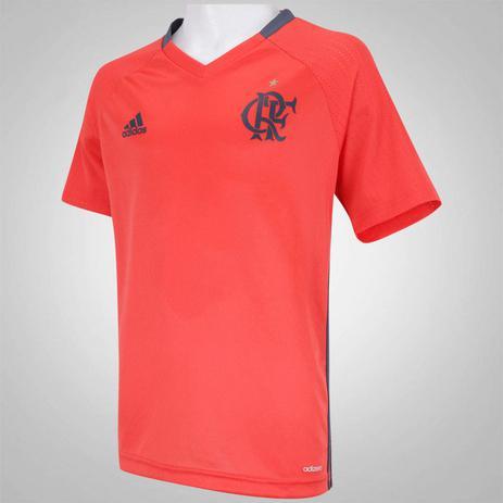 87041c678ba Camisa Infantil Flamengo adidas Treino vermelha - Camisa de Time ...