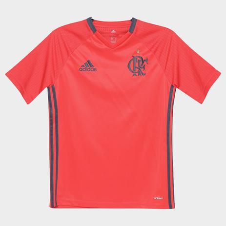 dbfe3be54410c Camisa Infantil Flamengo adidas Treino vermelha - Vestuário ...