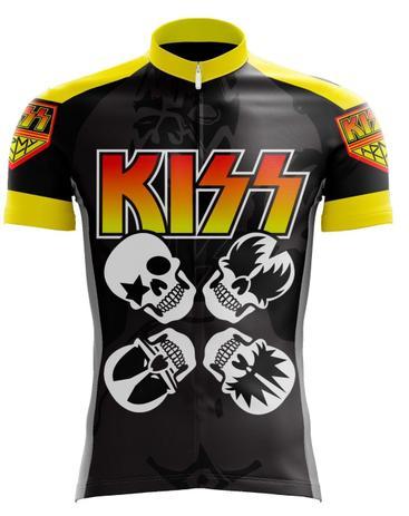 abccdfcb38 Camisa kiss ciclismo rock - Banda rock - Camisa de Ciclismo ...