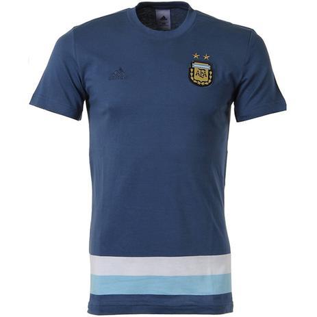 c700aa3374 Camisa Masculina Argentina Adidas Azul Algodão - Camisa de Time ...