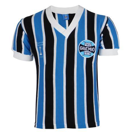 Imagem de Camisa Masculina Grêmio Retrô 1983 Gola V Bordada Torcedor