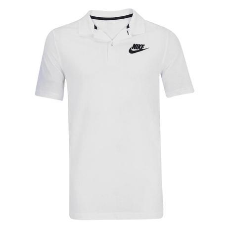 Camisa Masculina Polo NSW PQ MATCHUP - Nike - Branco Preto - Fitness ... 48c2338c168c1