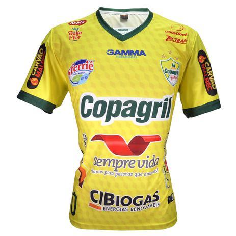 93f0687605 Camisa Oficial Copagril Futsal 2018 Amarela - Camisa de Time ...