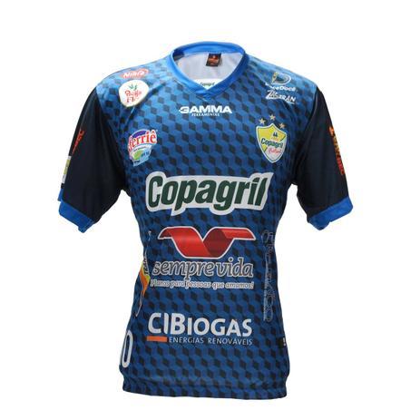 Camisa Oficial Copagril Futsal 2018 Goleiro Azul - Camisa de Time ... d2cf8d7280e82