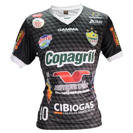 a4996b74aa Camisa Oficial Copagril Futsal 2018 Goleiro Preta - Camisa de Time ...
