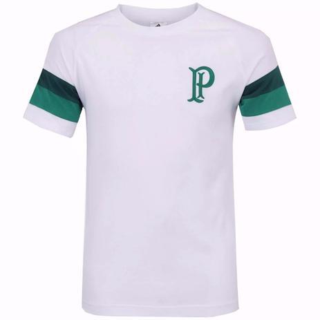 8e57ee1a9a Camisa Palmeiras Adidas Algodão SF Retrô Branca - Camisa de Time ...