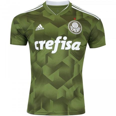 8d0e36d181ff8 Camisa Palmeiras Adidas III Verde 2018 - Camisa de Time - Magazine Luiza