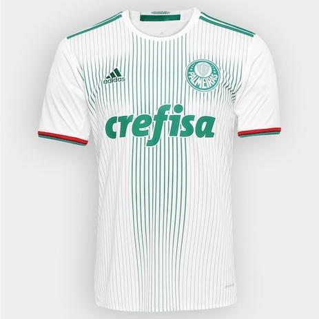 a0b850a92 Camisa Palmeiras Branca 2016 S/nº adidas Torcedor Masculina ...