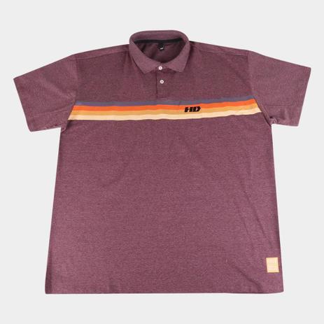 Imagem de Camisa Polo HD Plus Size Listrada Masculina