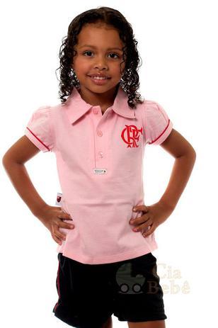 9913d8aef822d Camisa Polo Infantil Flamengo Rosa Oficial - Revedor