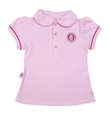 a9ef161fe Camisa Polo Infantil Internacional Rosa Oficial - Revedor - Camisa ...