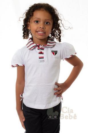 b4a63b1f25d5d Camisa Polo Infantil São Paulo Feminina Oficial - Revedor - Camisa ...