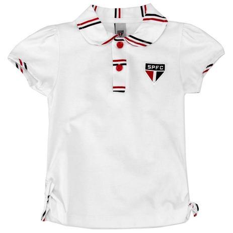 a73cb28f6 Camisa Polo Infantil São Paulo Feminina Oficial - Revedor ...