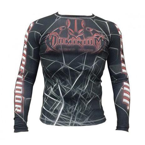 Imagem de Camisa Rash Guard Compressão Neon Preta  Jiu Jitsu
