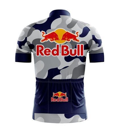 Camisa red bull ciclismo camuflada azul e cinza - Rpc - Vestuário ... 363c695dda6