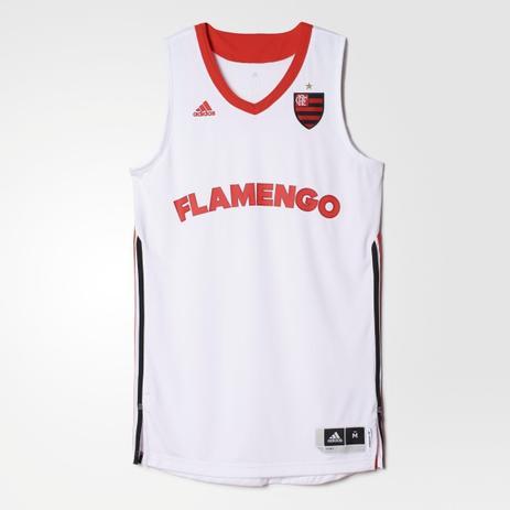 6e220912a1f4f Camisa Regata adidas Flamengo 2014 Basquete Torcedor Branca ...
