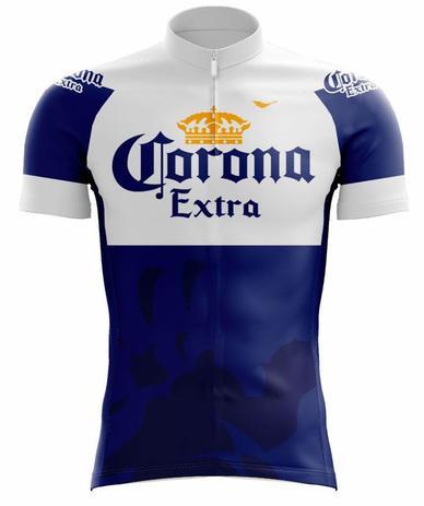 Camisa scape corona ciclismo azul e branca - Vestuário Esportivo ... 439275e6ef4
