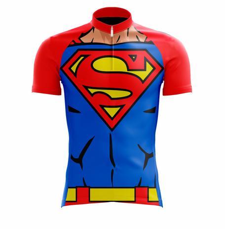 0c58300ec Camisa scape super homem azul e vermelha - ciclismo - Vestuário ...