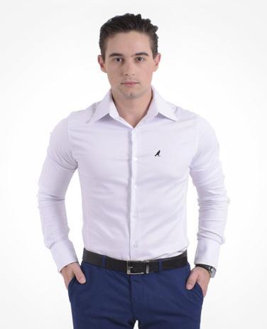 6f1a28ebdf Camisa Social Branca Masculina Super Slim - Hórus oficial ...
