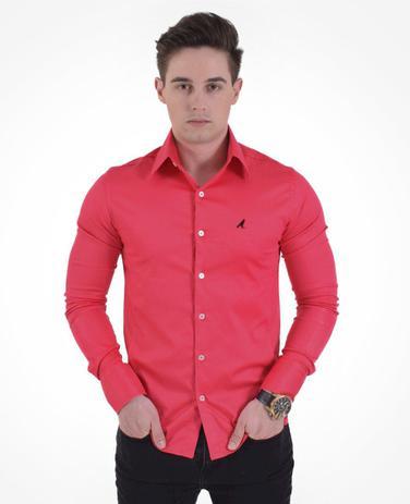 d13bf06f9b Camisa Social Cereja Masculina Super Slim - Hórus oficial ...
