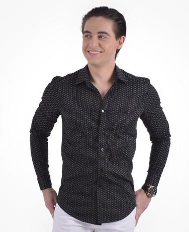 1d3f8e21be Camisa Social Estampada Masculina Slim - Hórus oficial - Vestuário ...