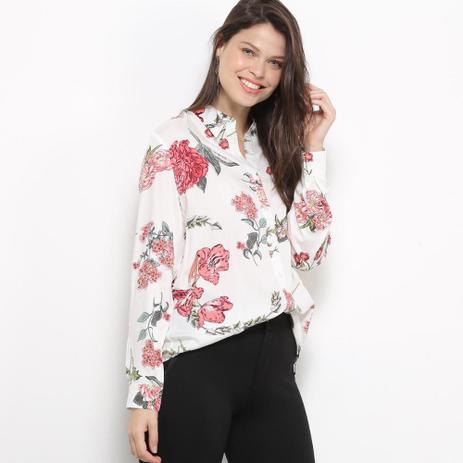 Imagem de Camisa Social Facinelli Floral Feminina