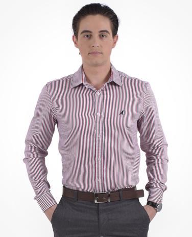 cc7853371e Camisa Social Listrada Masculina Slim - Hórus oficial - Vestuário ...