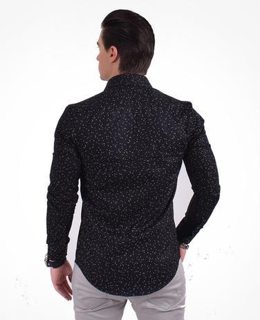b95175e0418a Camisa Social Masculina Slim Estampada - Levok - Camisas Masculinas ...