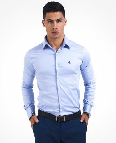 2126075341 Camisa Social Masculina Violeta Super Slim - Levok - Camisas ...