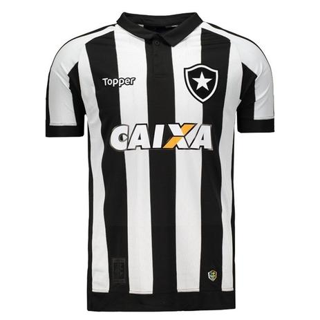 d3e95961b4 Camisa Topper Botafogo I 2017 Patrocínio 4200982 - Camisa de Time ...
