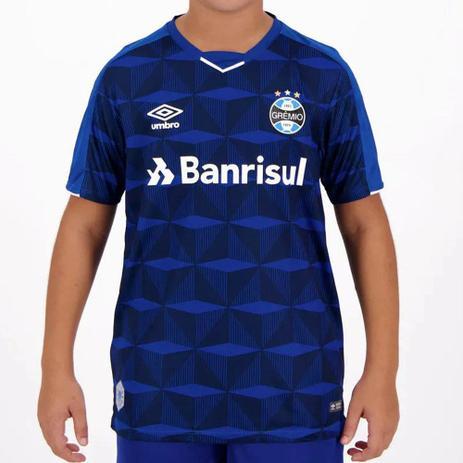 Imagem de Camisa Umbro Grêmio Oficial III 2019 Juvenil - Marinho e Branco