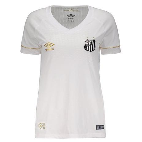 65d8d0d938 Camisa Umbro Santos Oficial I 2018 Feminina - Camisa de Time ...