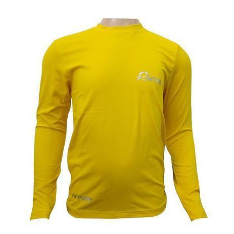 ce6eda7e67 Camisa UV50 Pontes Infantil Manga Longa Amarela Ciclismo Praia ...