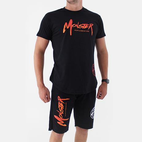 a3e8ffff6eb25 Camiseta Ampla Masculina Preta - Monster Suplementos - Acessórios de ...