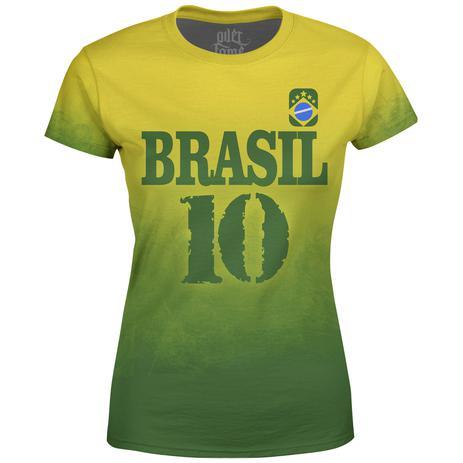 a9b8b3932 Camiseta Baby Look Feminina Brasil Md04 - Over fame - Vestuário ...