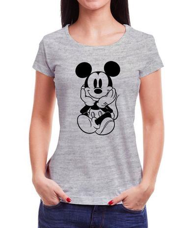 Imagem de Camiseta Baby Look Feminina Mickey Fofo Lindo