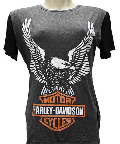 Imagem de Camiseta Babylook Harley Davidson Águia Moto Rock Feminino Blusa M2