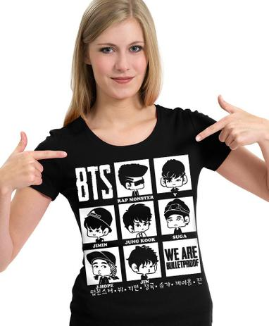 Imagem de Camiseta BTS Chibi K-pop  Camisa Blusa