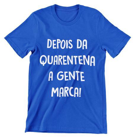 Imagem de Camiseta Colorida Carnaval 2021 Depois da Quarentena A Gente Marca Azul Royal